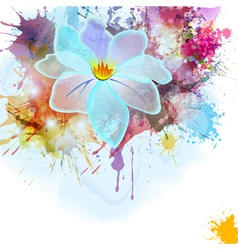 Abstract background in grunge style with flower vector image