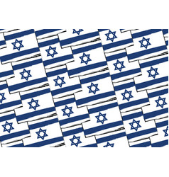 abstract israel flag or banner vector image