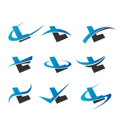 Alphabet l logo icons vector