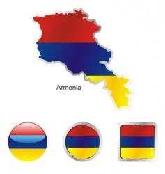 armenia vector image
