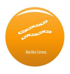Bacillus cereus icon orange vector