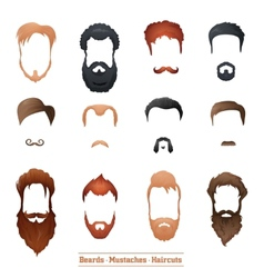 Beards and Mustaches Hairstyles vector