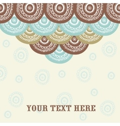 Beautiful abstract background with circles vector