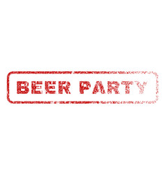 Beer party rubber stamp vector