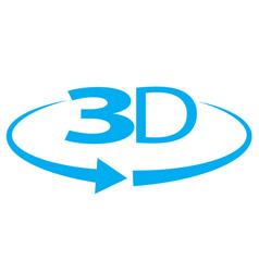 blue angle 3d icon on white background angle 3d vector image