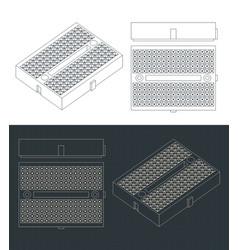 Breadboard mini format blueprints vector