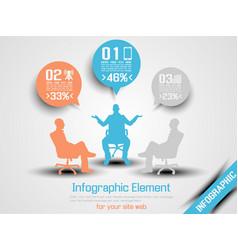 Business man infographic option three 7 orange vector