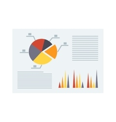 Business report vector image