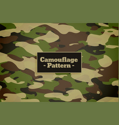 Camouflage pattern background for army vector