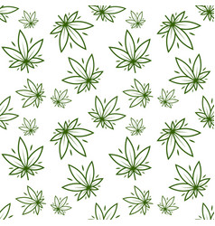 Cannabis plant marijuana leaf medical cannabis vector