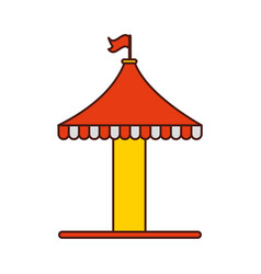 carousel tent isolated icon vector image