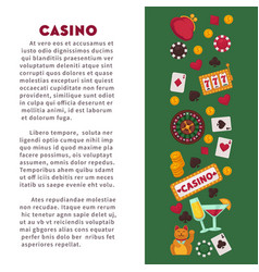 casino club gambling play card games roulette and vector image