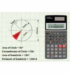 Circle geometry vector