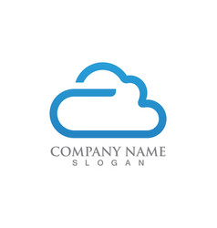 Cloud logo servers data and symbols icons vector