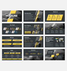 Design black slides for presentation vector