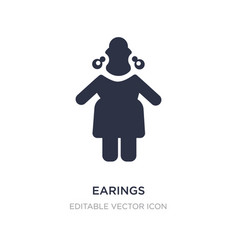 Earings icon on white background simple element vector