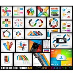 extreme collection 25 quality infographics vector image