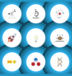 Flat icon science set of electrical engine vector