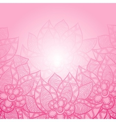 Floral background with abstract hand drawn flowers vector image