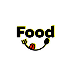 food logo designs with spoon and fork vector image