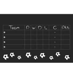 Football Tournament Group Stages and Points Table vector