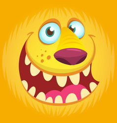 Furry monster face avatar vector