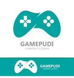 Game joystick or device controller logo vector image