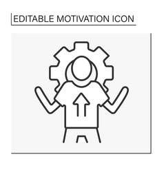 Goal setting line icon vector