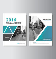 Green Blue annual report Leaflet Brochure vector