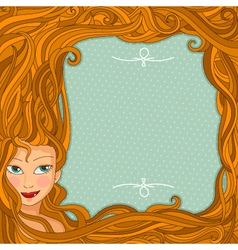 Hair design vector