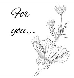 hand drawn flower with buds vector image