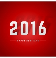 Happy New Year 2016 and 2015 shadow 3d message vector image