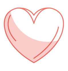 Heart beatiful flat vector