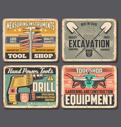 home repair and construction work tools shop vector image