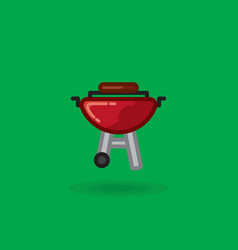 icon of meat is fried on barbecue for vector image