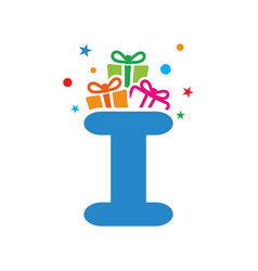 initial gift i vector image