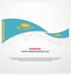 Kazakhstan happy independence day background vector