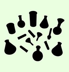 lab equipment silhouette vector image