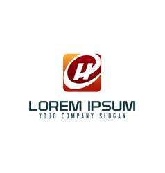 letter h logo business technology design concept vector image