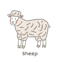 Lineart sheep vector image