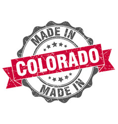 Made in colorado round seal vector