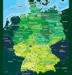 map germany vector image