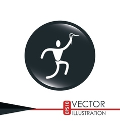 olimpic torch design vector image
