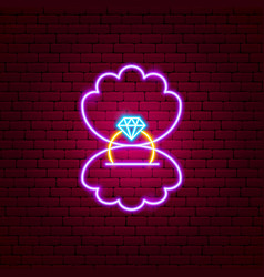proposal ring neon sign vector image