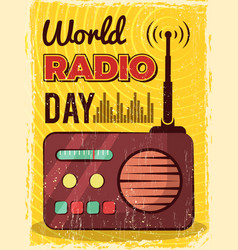 radio poster microphone broadcast studio mic and vector image