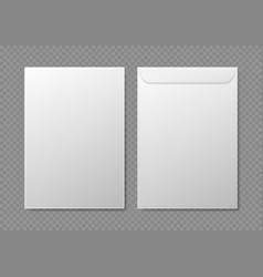 realistic detailed 3d white blank envelopes vector image