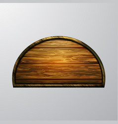 Realistic of wooden signboard vector