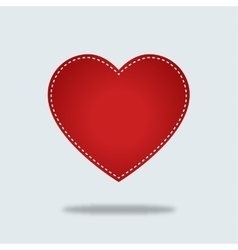 Red heart Icon with stiches vector