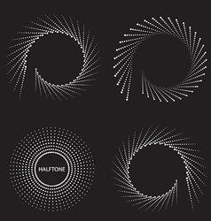 Retro spiral design vector