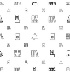 Ring icons pattern seamless white background vector